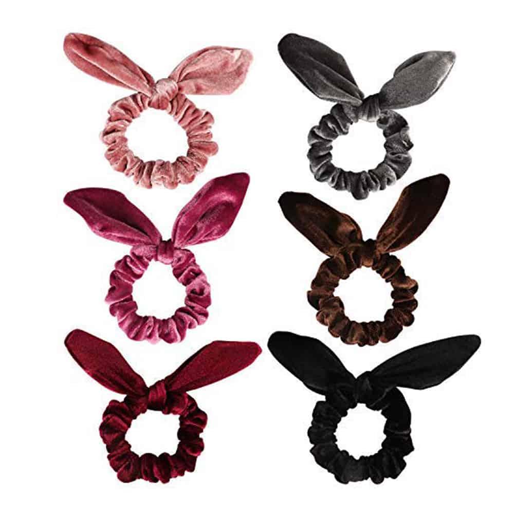 Velvet Bunny Scrunchies