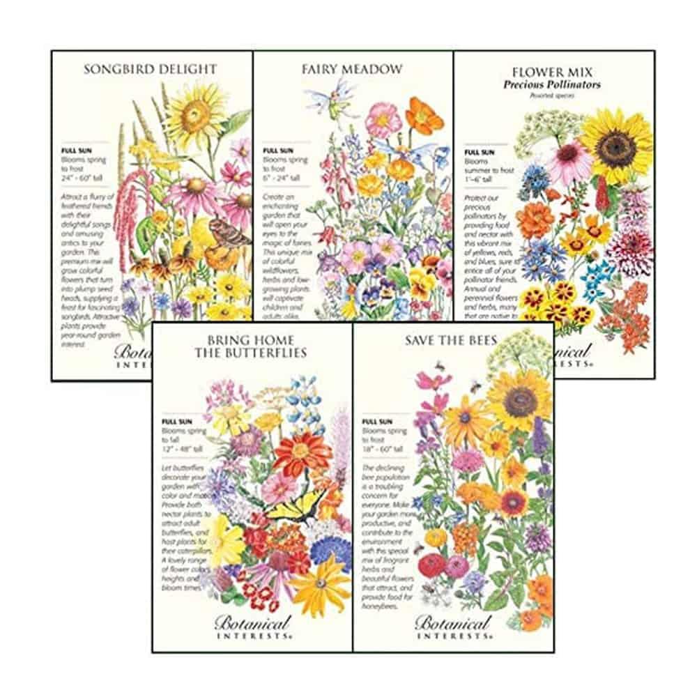 Botanical Interests Pollinator Flower Seeds
