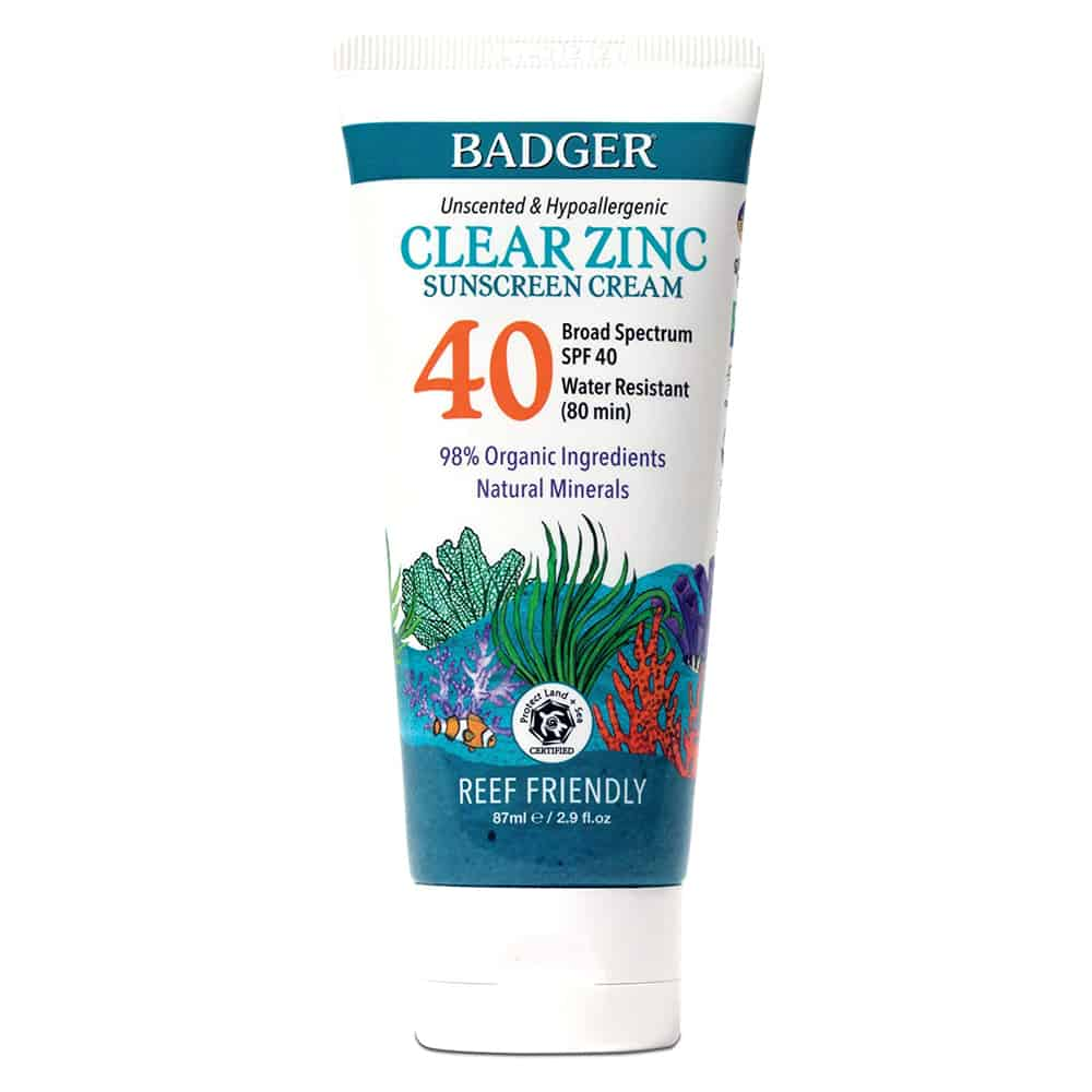 Badger Clear Zinc Sunscreen SPF40