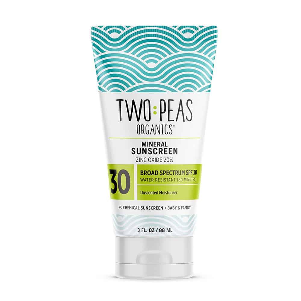 Two Peas Organics Mineral Sunscreen