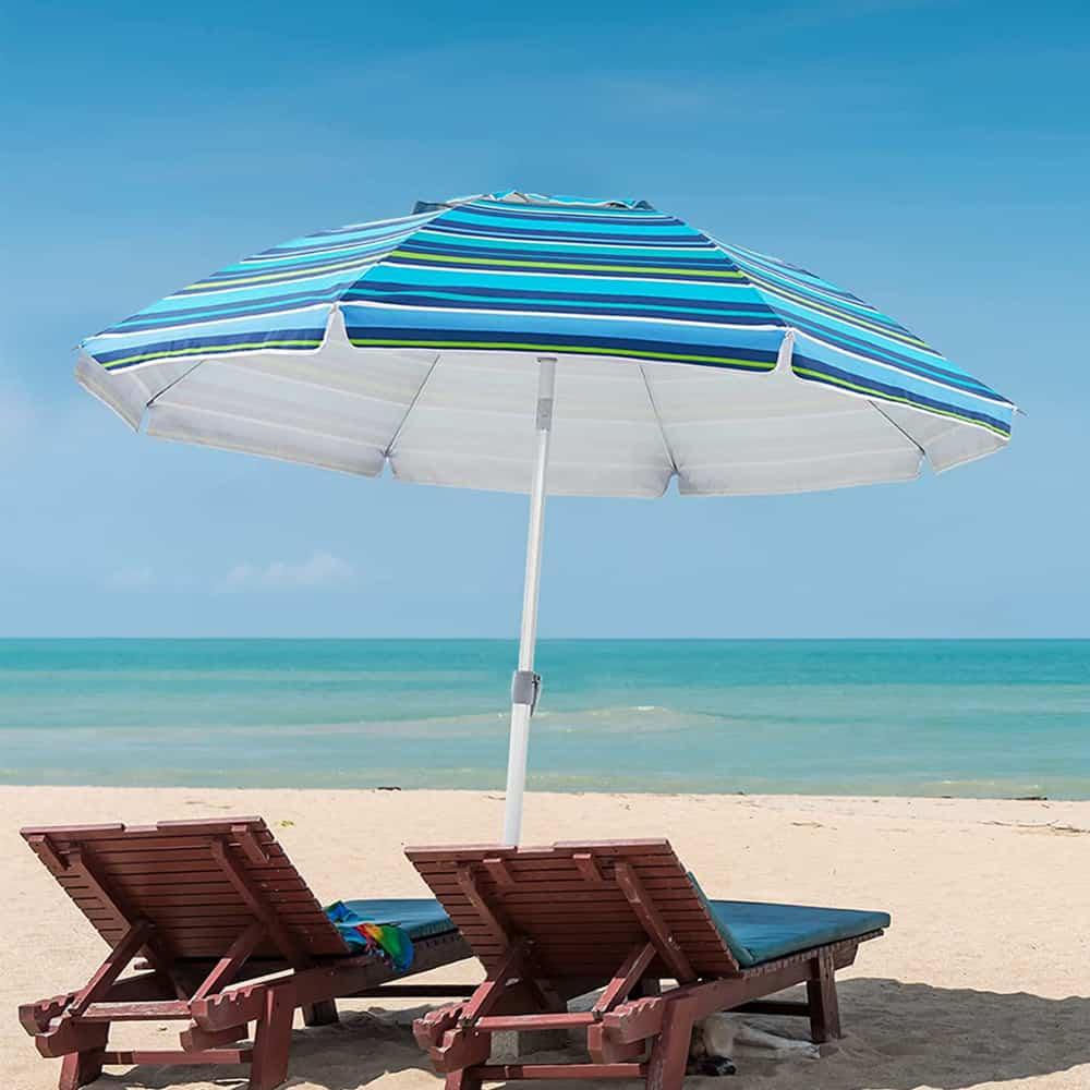 UPF50+ Beach Umbrella With Tilt