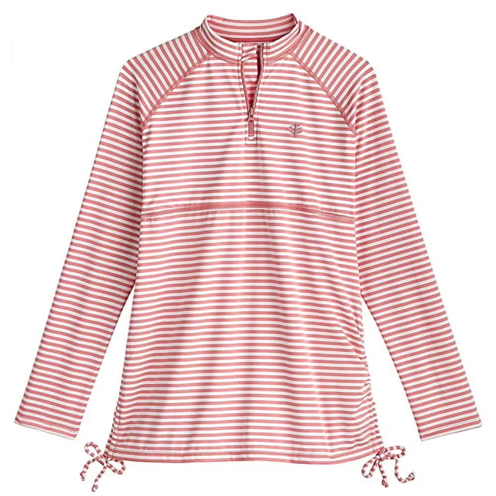 Coolibar UPF50+ Girls Ruched Swim Shirt