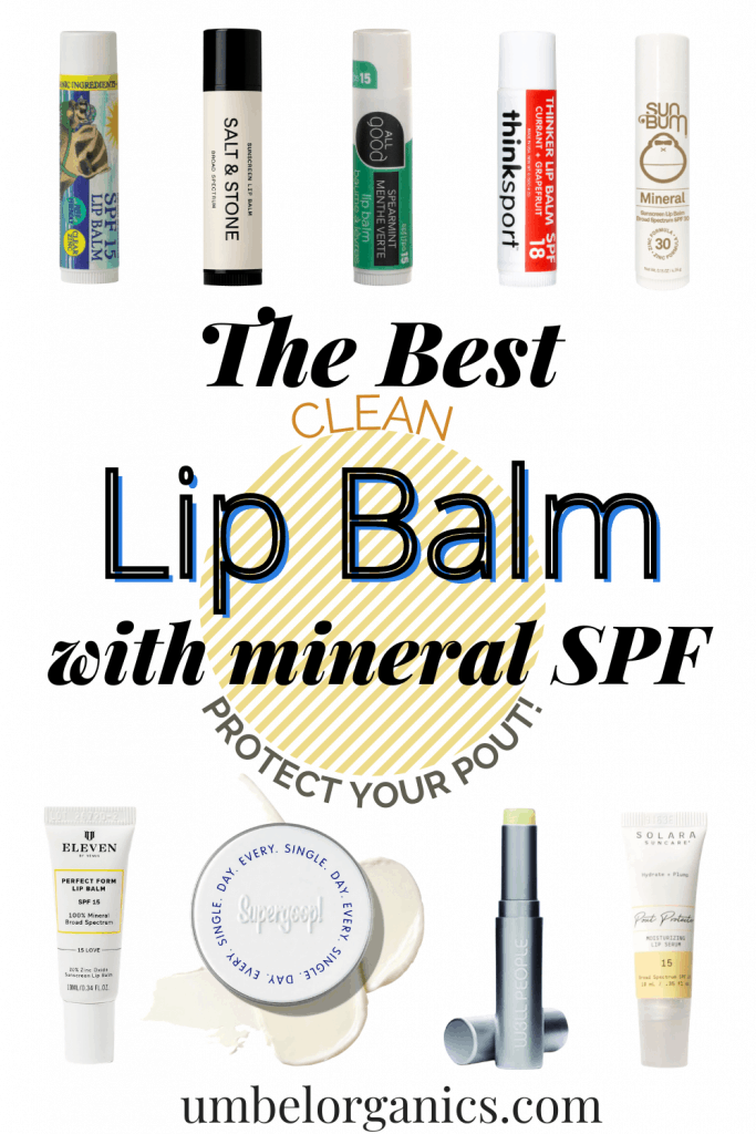 9 brands of mineral SPF lip balm