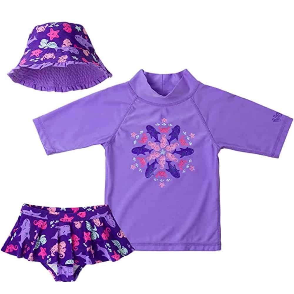 UV Skinz UPF50+ 3-Piece Girls Swimsuit
