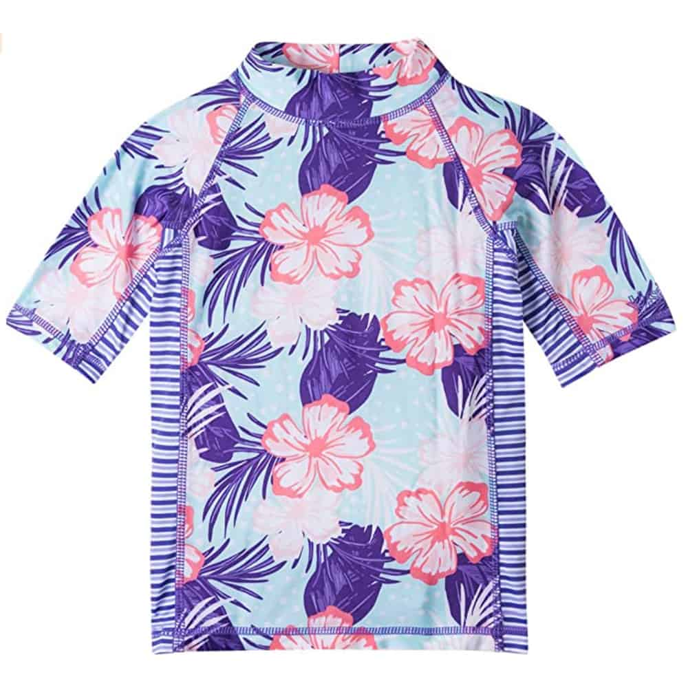 UV Skinz UPF50+ Girls Short Sleeve Shirt