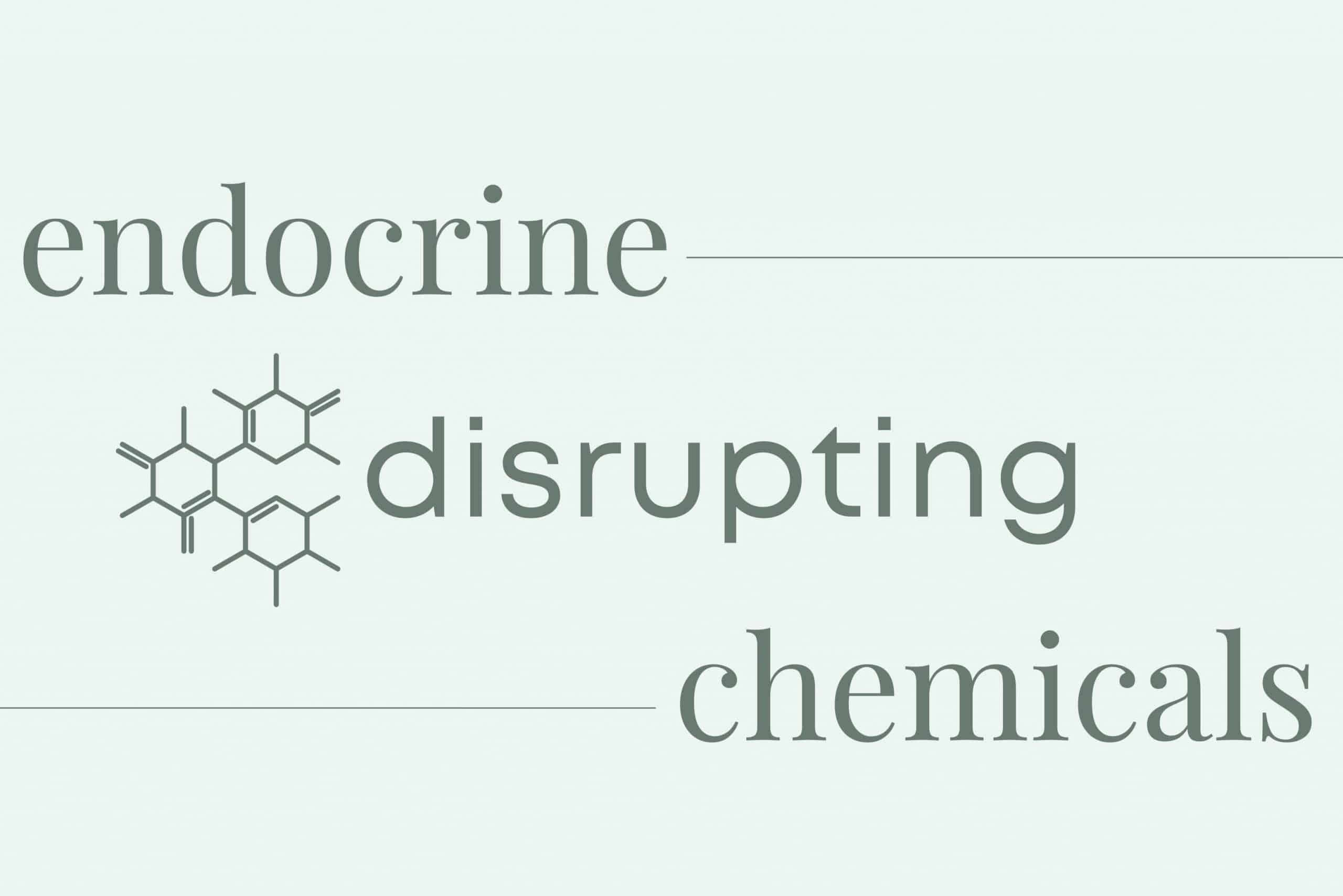 Endocrine Disrupting Chemicals with chemical symbol