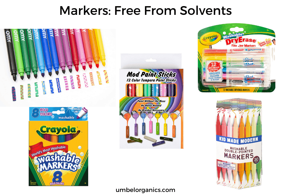 Non-Toxic Markers For School: Free From Solvents