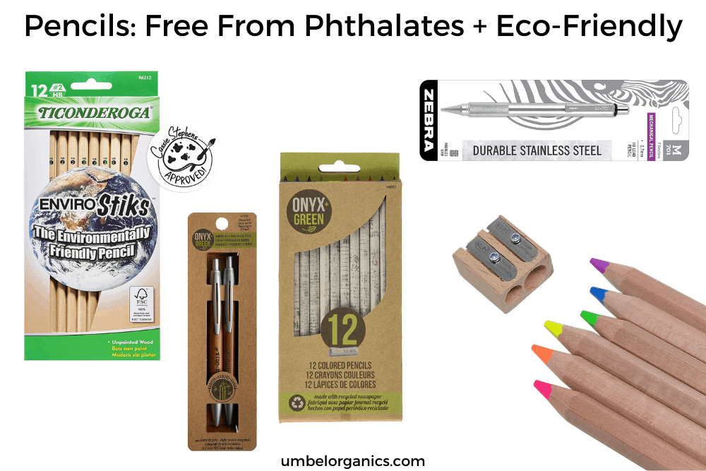 Eco-Friendly Pencils For School: Free From Phthalates