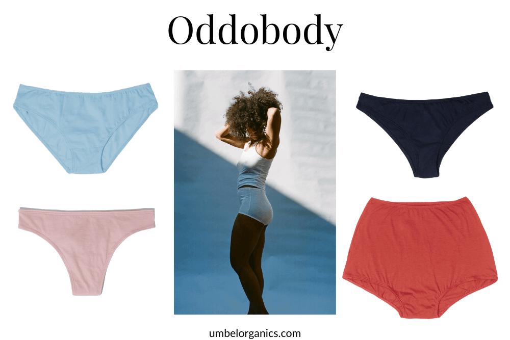 Sustainable underwear with underwear model