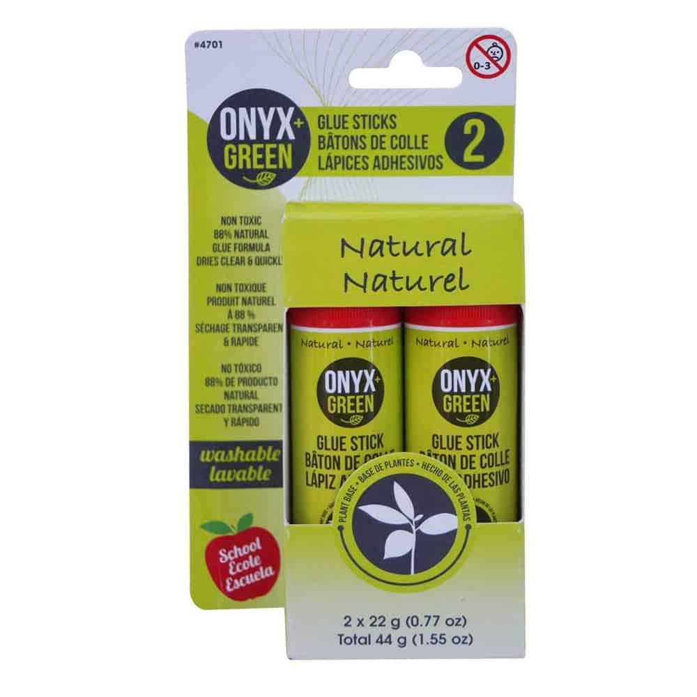Onyx and Green Glue Sticks
