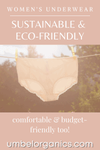 A pair of white women's underwear hanging on clothesline