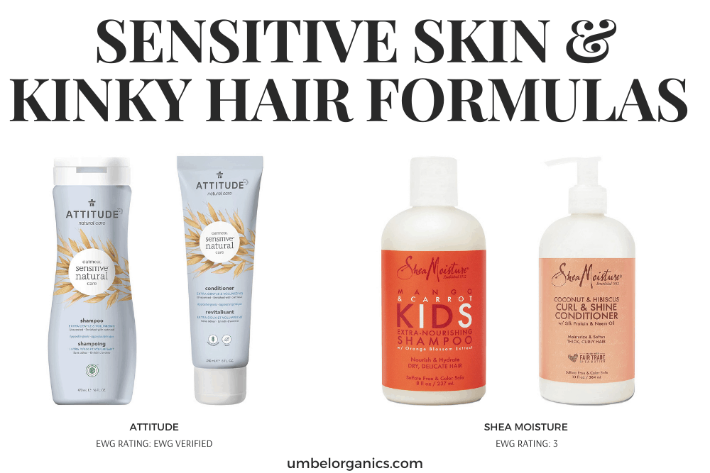 Non-Toxic Sensitive Skin & Kinky Hair Formulas For Kids