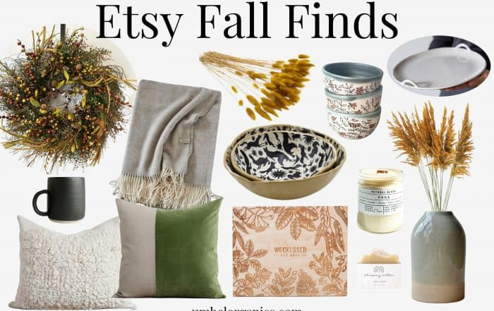 Fall finds for the home from Etsy