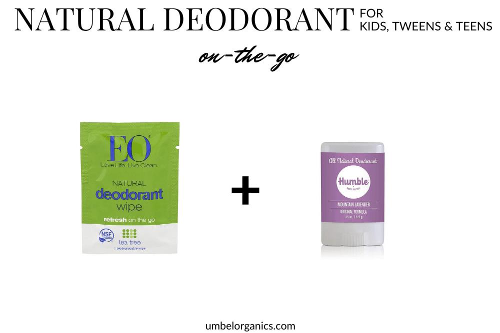 On-The-Go Natural Deodorant For Kids, Tween & Teens