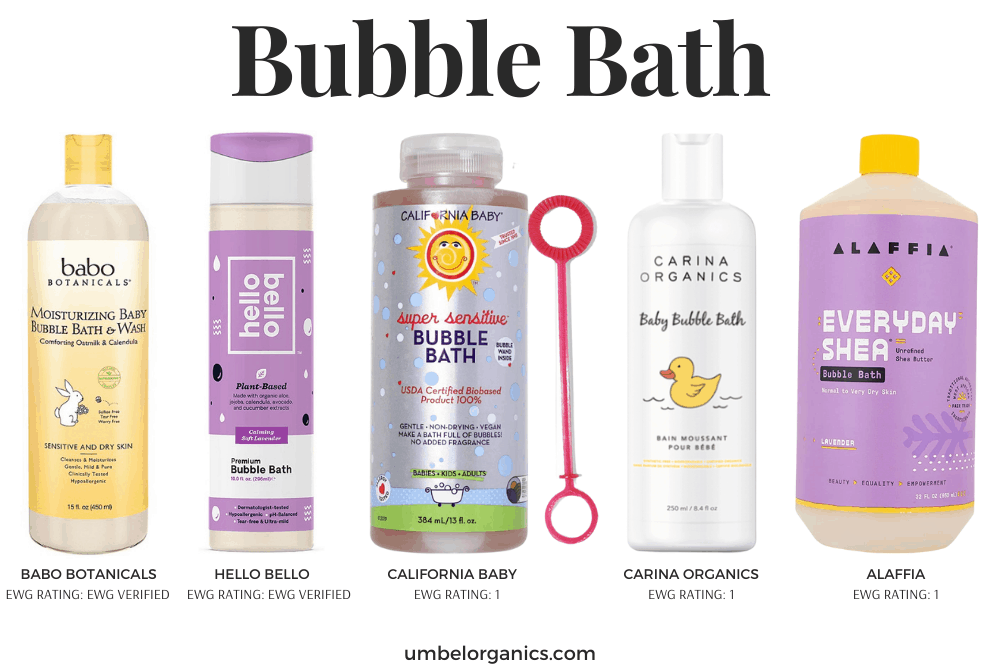 Non-Toxic Bubble Bath For Babies & Kids