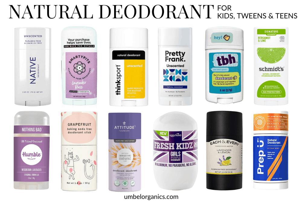 12 Natural Deodorant Brands For Kids, Tweens & Teens