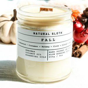 Natural Sloth Fall Candle
