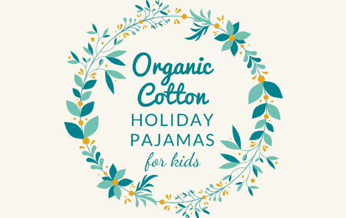 Wreath with words: Organic Cotton Holiday Pajamas For Kids